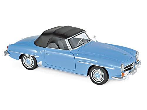 - Norev 1957 Mercedes Benz 190 SL Cabriolet Blue 1/18 Diecast Model Car 183400
