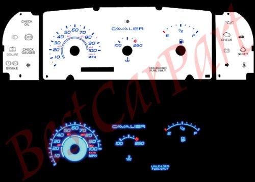 (91-94 Chevy Cavalier w/o Tach WHITE REVERSE GLOW)
