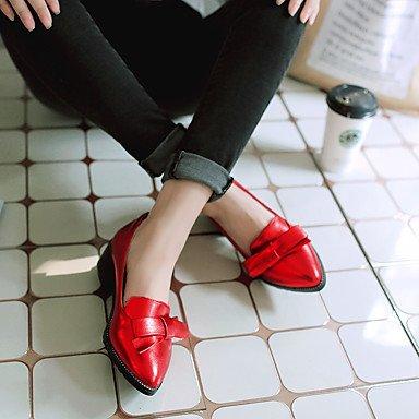 Le donne sexy elegante sandali donna tacchi Primavera Estate Autunno Inverno altri PU Office & Carriera Abito casual Chunky Heel Bowknot Red Silver Gold Khaki , kaki , noi6.5-7 / EU37 / uk4,5-5 / CN37