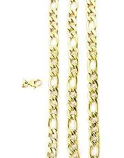 AKIEE Collar para Hombre Mujer De Acero Inoxidable Cadena Figaro Cubana