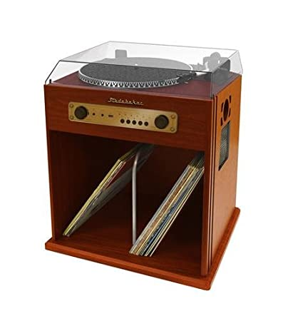 Studebaker Stereo Turntable With Bluetooth Receiver And Record Storage  Compartment, SB6059