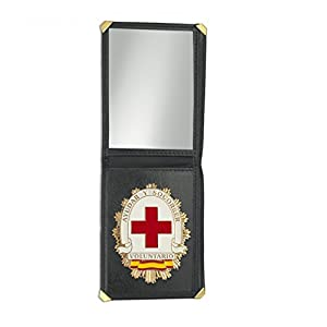 Outletdelocio. Cartera identificacion con Placa Voluntario Cruz Roja. 3 Compartimentos y Esquinas reforzadas 18