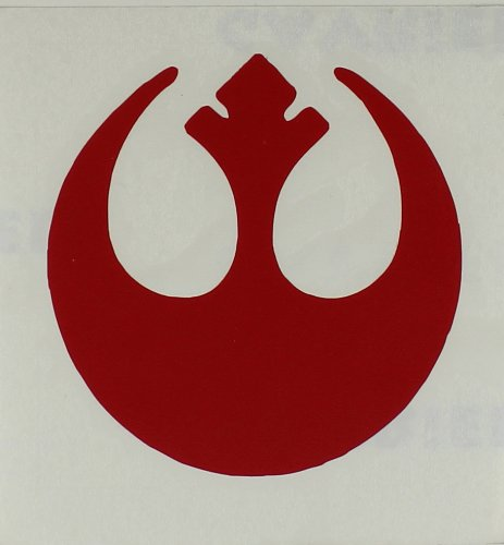 Licenses Products Star Wars Rebel Insignia Rub-On Sticker, Red