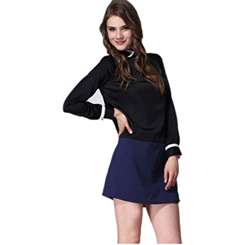 Womens Beckhams With Victoria Hot Drilling Lapel Simple Loose Long-Sleeved Velvet Dress (Black - Beckham Buy Victoria Online