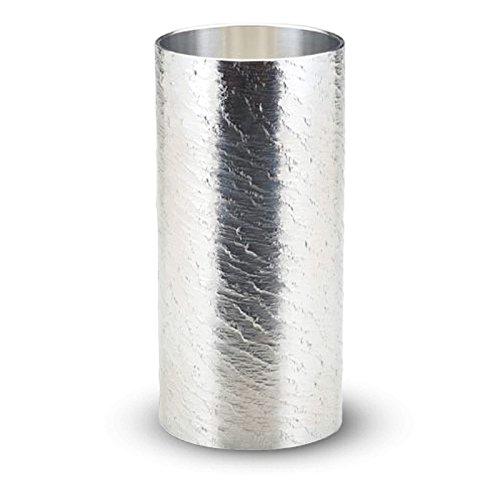 大阪錫器 おしゃれ 錫 ビアカップ タンブラー さざなみ ロング 25-7-1 B07DBYSLD2  ロング
