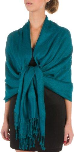 """Sakkas 70"""" x 28"""" Paisley Self-Design Pashmina Shawl / Wrap / Stole"""