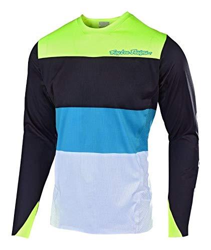 (Troy Lee Designs Sprint Elite Long-Sleeve Jersey - Men's Beta Black/Flo Yellow, M )