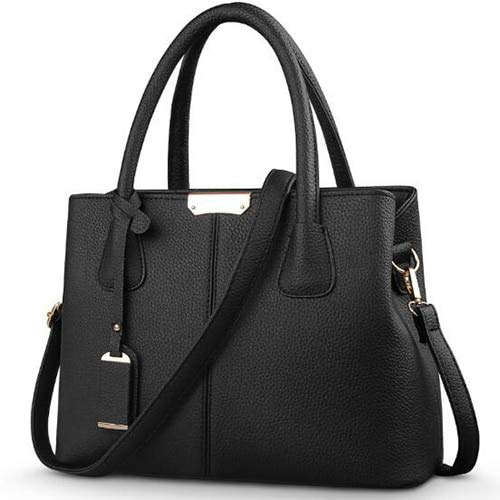 Women PU Leather Handbags Ladies Large Tote Bag Female Square Shoulder Bags Bolsas Femininas Sac New Fashion Crossbody Bags - Black