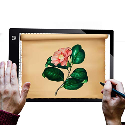 A4 Portable LED Light Box Tracer Diamond Painting LED Light Pad 5mm Ultra-Thin USB Power Cable Light Table for Artists Drawing Sketching Animation Stencilling X-rayViewing ()