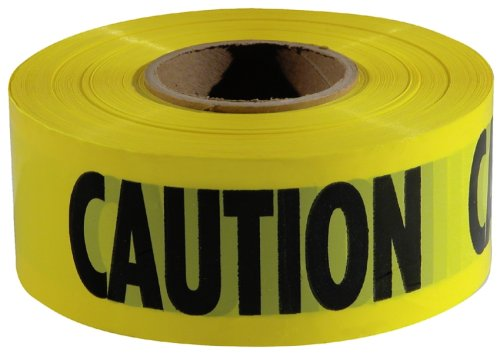 Caution Barricade Safety Tape - Empire Level 77-1001 Yellow