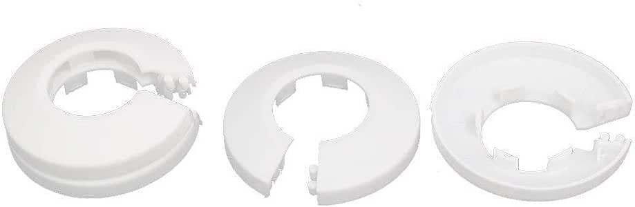 Wuyee 1 pcs 16mm Collar de Cubierta de Tubo de Agua de radiador de Brida de Pared de pl/ástico Negro para Poner en Orden Las tuber/ías del radiador