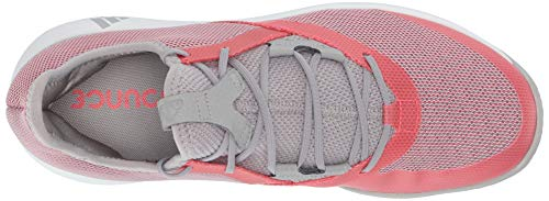 adidas Women's Adizero Defiant Bounce, Light Granite/Shock red/White 6 M US by adidas (Image #7)