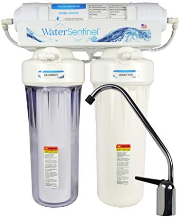 WaterSentinel WS-UF3LCV 3-Stage Ultra-Filtration POU System with LVOC Block