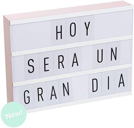 Dcasa - Lightbox Caja de luz A4 color rosa con 75 letras .: Amazon ...
