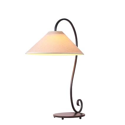CCSUN Lámpara de mesa de estudio, Hierro forjado Estilo ...