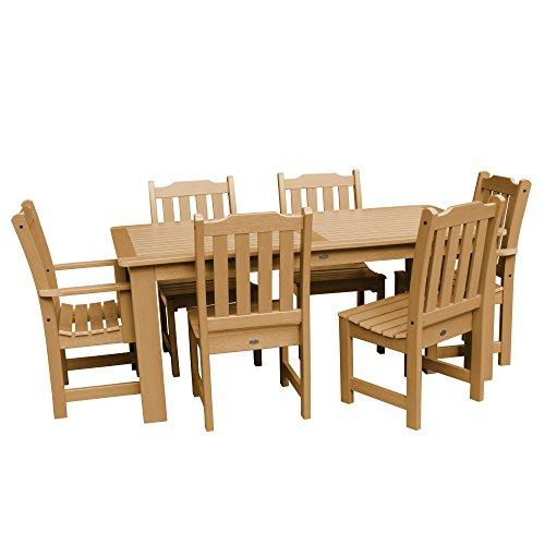 Highwood 7-Piece Lehigh Rectangular Dining Set, Toffee