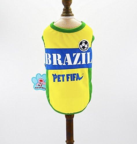 Camisa del fútbol del perrito del perro de la Copa del mundo (Extra Small): Amazon.es: Productos para mascotas