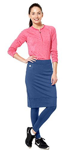 Snoga Modesty Athletic Wear Yoga Pants w/Attached Skirt