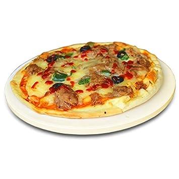 Piedra de pizza redonda de 12 pulgadas, piedra de cordierita para ...