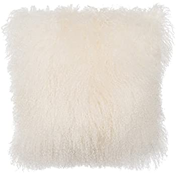 white fur rug png. slpr home collection mongolian lamb fur pillow cover, 20 x 20, natural white rug png s