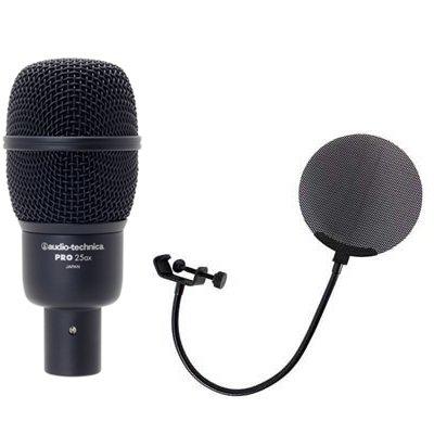 AUDIO-TECHNICA PRO25ax メタルポップフィルター付き マイクロフォン B015K3POOS