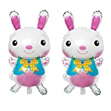 Wnakeli Ballons Easeter Aluminum Foil Bunny Ballons Birthday Party Supplies Wedding Baby Shower Graduation Decorations Supplies 2Pcs