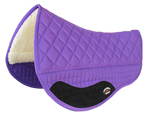 CHALLENGER Western Horse Saddle PAD 28X32 Double Back Barrel Fleece Lined Purple 39102 Double Fleece Saddle Pads