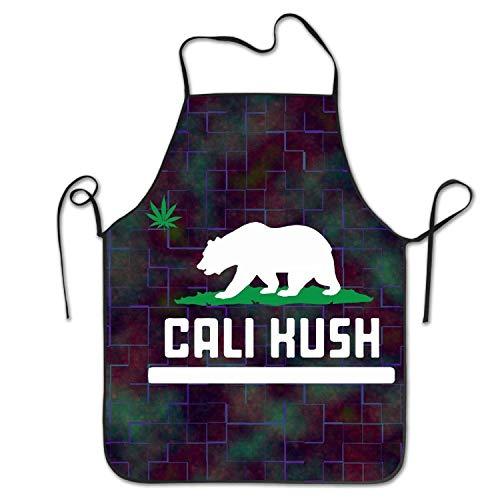 - Fs2A1X California Kush Marijuana Leaf Star Bear Legalize Pot Weed Adult's Funny Creative Print Cooking Aprons