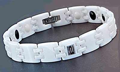 White Ceramic Therapy Bracelet from Being USA