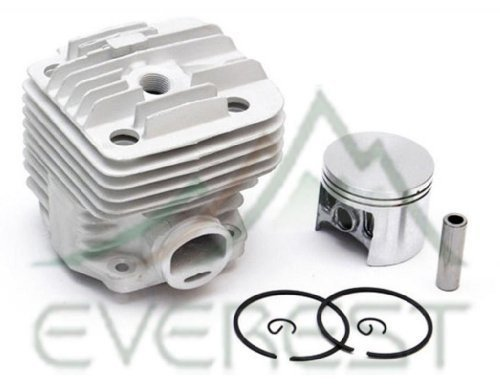 NEW STIHL TS400 TS 400 CYLINDER HEAD PISTON KIT WITH RINGS PIN & CLIPS 49mm