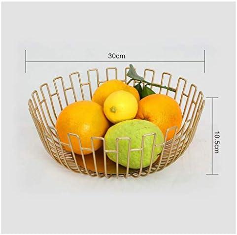 キッチンリビングルームクラブ、バーのラウンドフルーツボウル、卵、パンストレージボウルホルダースタンド、 (Color : Gold, Size : 27.5×10cm)