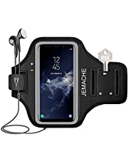 Galaxy A51, A50, A20 Armband, JEMACHE Water Resistant Gym Running Workouts Arm Band Holder for Samsung Galaxy A51, A50, A20, A10 (Black)