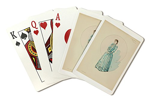 [Le Costume au Theatre Vintage Poster (artist: Steinlen, Theophile Alexandre) France c. 1899 (Playing Card Deck - 52 Card Poker Size with Jokers)] (Las Vegas National Costume)