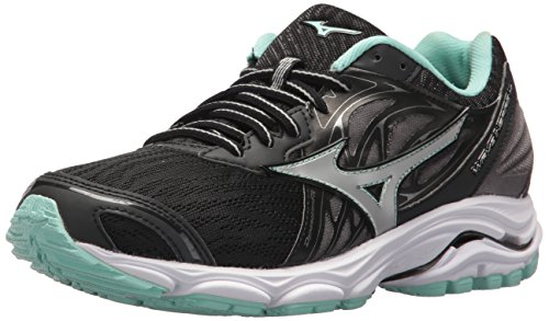 Mizuno Women's Wave Inspire 14 Running Shoe, Black/Silver, 7.5 B US (Wave Inspire 5 Shoes)