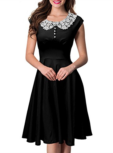 Miusol Women's Vintage Audrey Hepburn Style 1940's Rockabilly Evening Dress