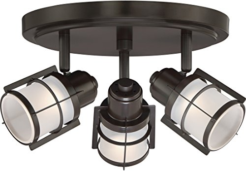 (Quoizel WNS1610WT Winside Directional Spot Light Flush Mount Ceiling Lighting, 3-Light, LED 15 Watts, Western Bronze (7