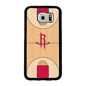 Samsung Galaxy S6 case Chevron Houston Rockets NBA Basketball Team Logo Team Logo Sports for Men Design Hard Plastic Snap on Accessories Protective Case Cover for Samsung Galaxy S6