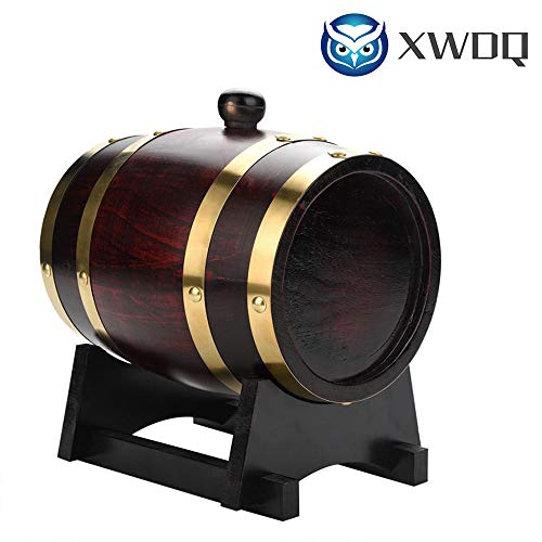 - XWDQ 1.5L,3L,5L,10L Vintage Wood Oak Timber Wine Barrel for Beer Whiskey Rum Bucket Brewage Hotel Exhibition Display,10L