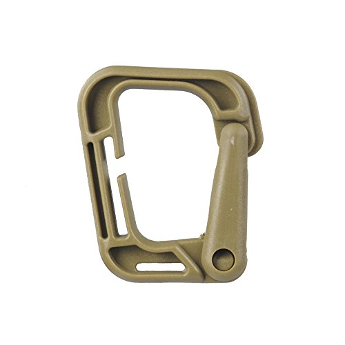 Pack of 4 Plastic Multi-use Grimloc D-Ring Carabiner Safety Buckle For Backpack Clasp Keychain Bag (Grimloc Carabiner)