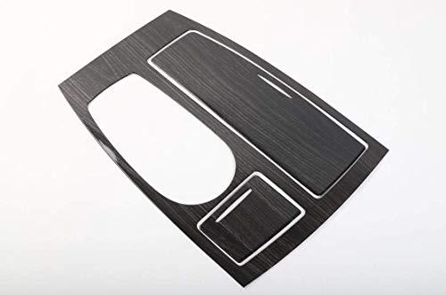 FMtoppeak 4Colors Car Interior Accessaries Gear Panel Decorative Frame Gear Box Cover Trim ABS for Nissan Patrol 2017 (Black Wood Grain)