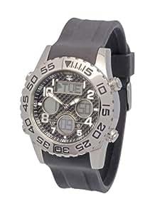 MSF SILC010 - Reloj analógico y digital manual para hombre con correa de resina, color negro