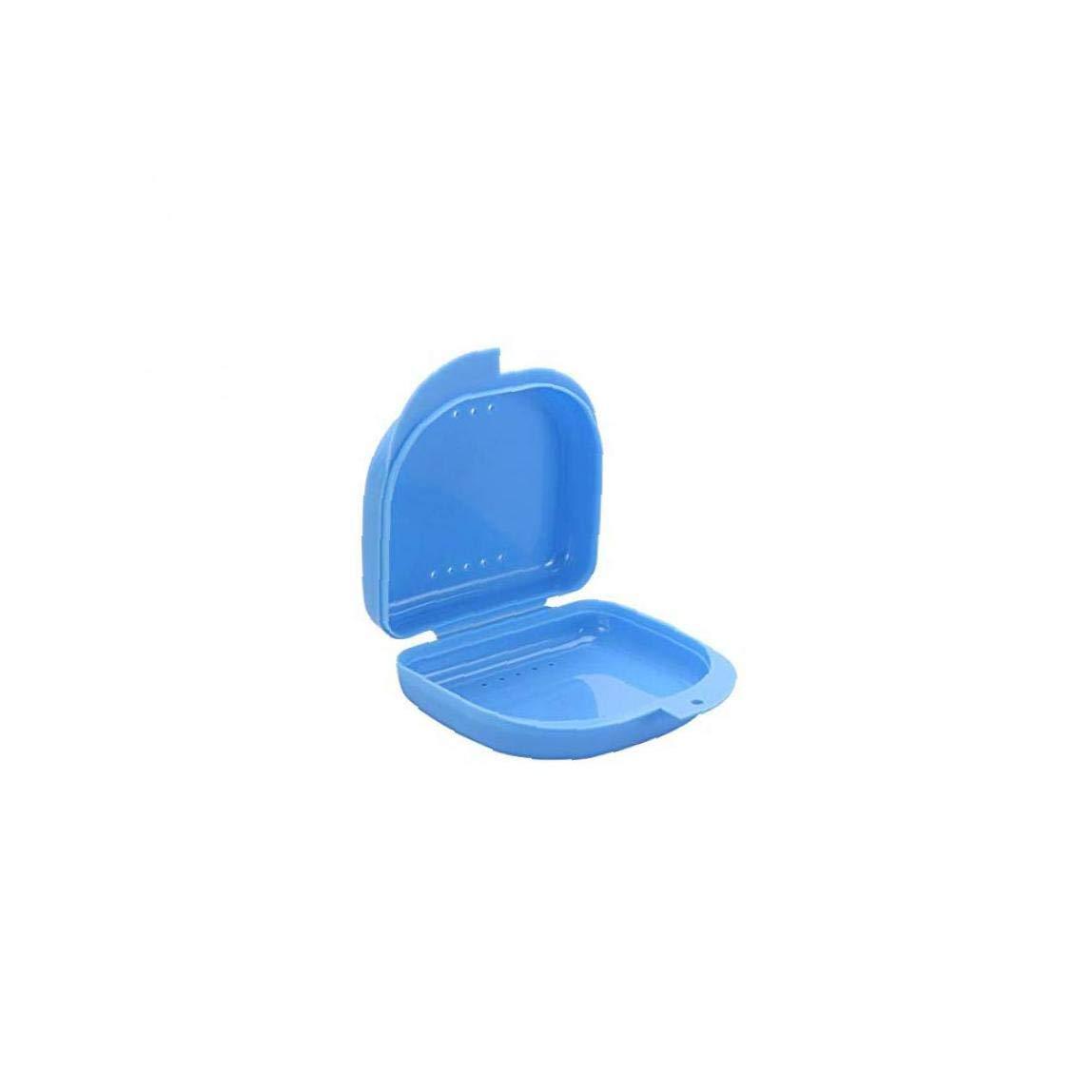 Dientes Dental Caso Plástico Portable Dentadura Caja Dental De Ortodoncia De Retención De La Dentadura Caso Retenedores Envase-1 Pieza Azul: Amazon.es: Deportes y aire libre