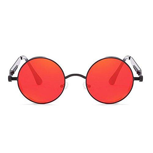 Pesca Pin Clásicas Gafas Gafas UV De Protección Sol Unisex Deportivas De De Hombres Antideslumbrante Marco Sol Gafas Punk Vintage Y Nuevas De Gafas Para Sol Redondo Conducción Mujeres Red 2018 Metal 6wHqfF