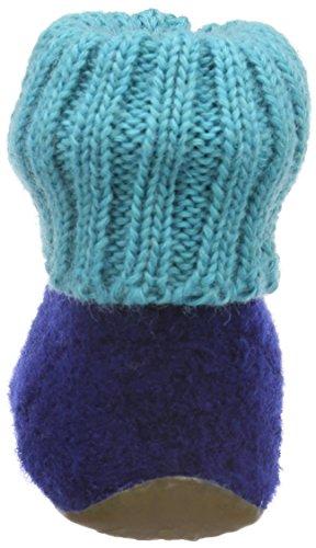 Haflinger Star - Zapatilla de estar por casa Unisex niños Azul - Blau (pazifik 71)