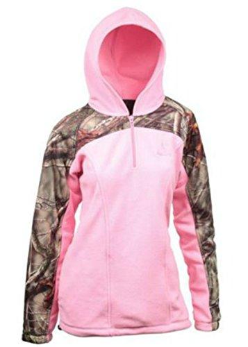 Huntworth-Ladies-2-Tone-Zip-Up-PinkCamo-Fleece