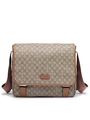 9cd3c3714a0f Image Unavailable. Image not available for. Color: Gucci Girl's Kid's Micro GG  Supreme Canvas Stars Diaper Bag