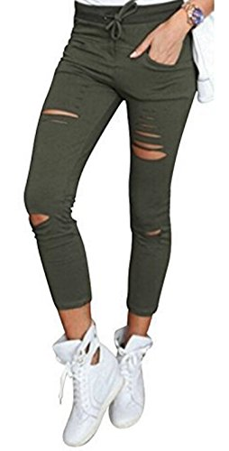 Live It Style It - Leggings - para mujer caqui
