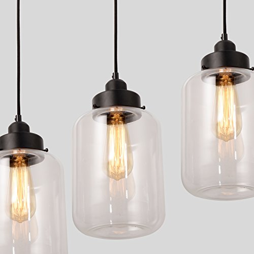 Unitary Brand Vintage Glass Shade Jar Pendant Light Max