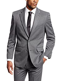 Men's Gabardine Tailored-Fit Two-Button Side-Vent Suit-Separate Jacket