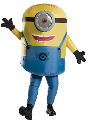 Rubie's Men's Minion Stuart Inflatable Jumpsuit Movie Theme Party Halloween Costume, STD (Up to 44)]()